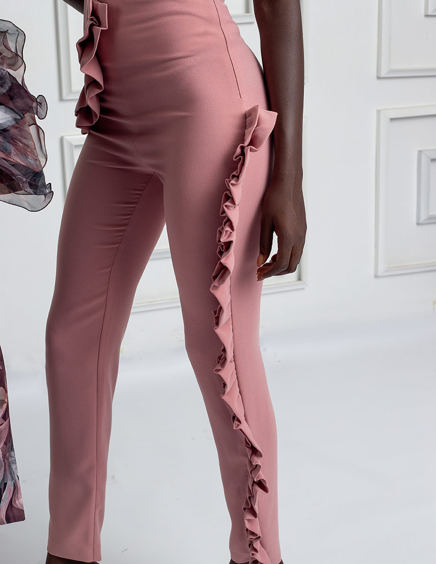 Cady blush frilled pants