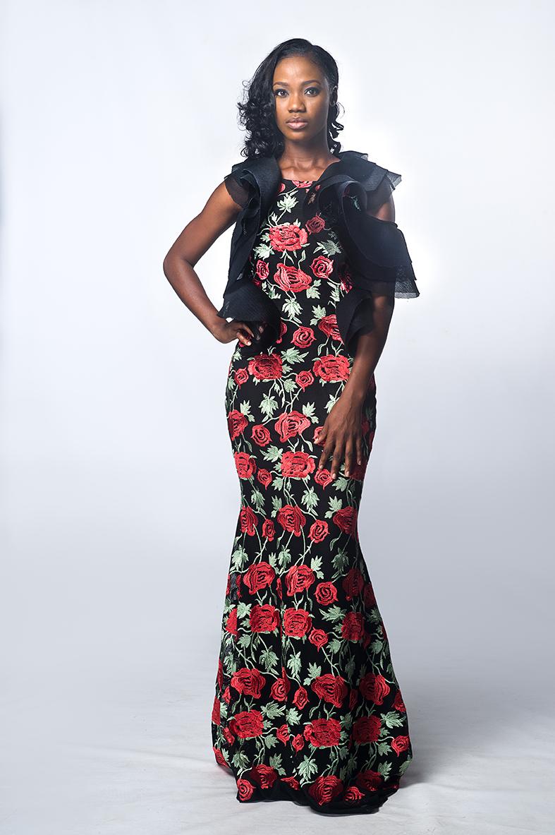 Jane floral long dress
