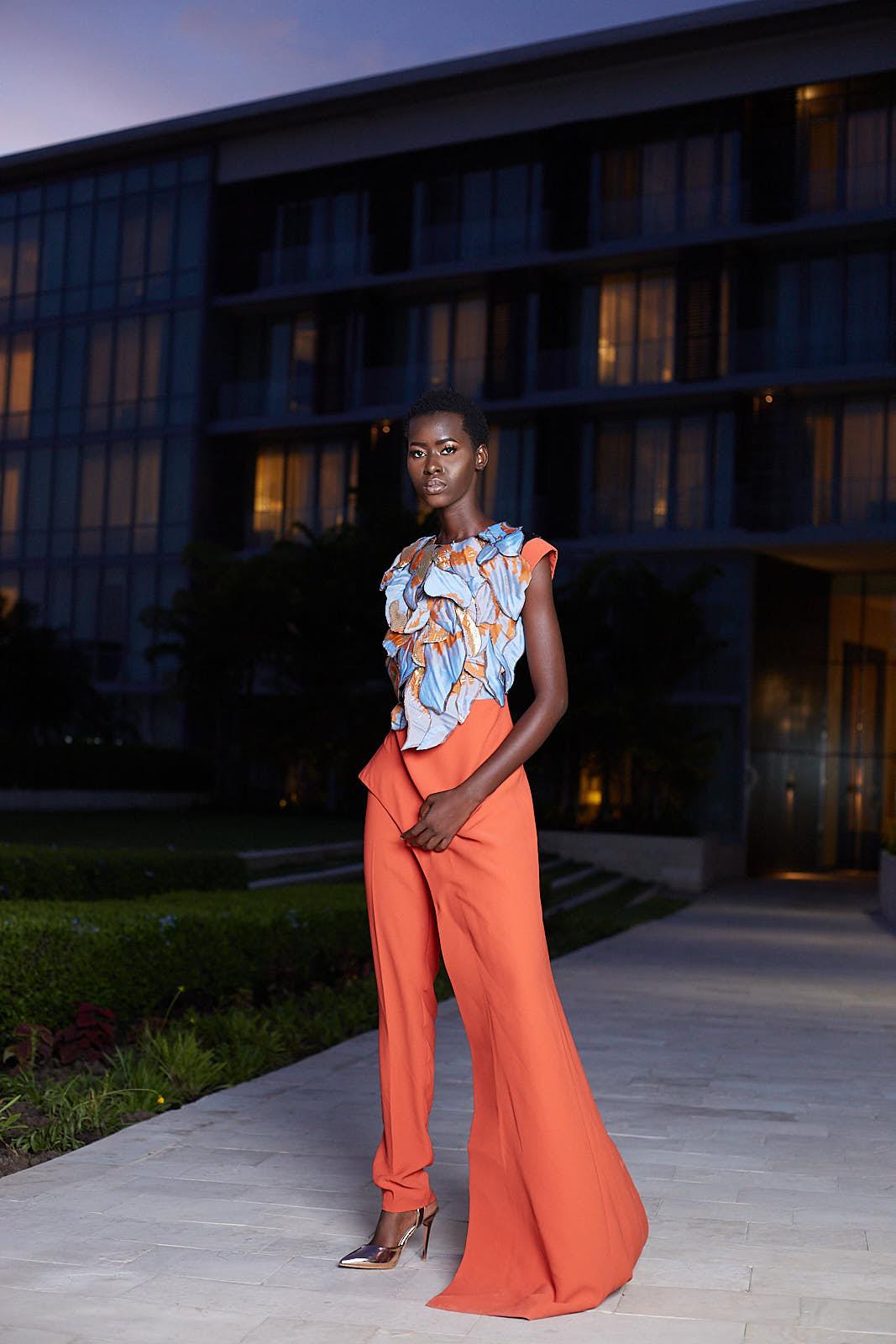 Calum orange jumpsuit